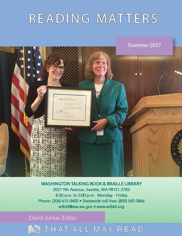 WTBBL recognized as the National Library Service for the Blind and Physically Handicapped Network Library of the Year for 2016